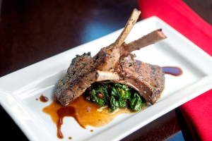 The Lamb Lollipops are an easy-to-share appetizer.
