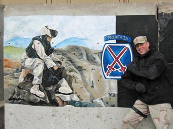 1st Lt. Barnett in Iraq.