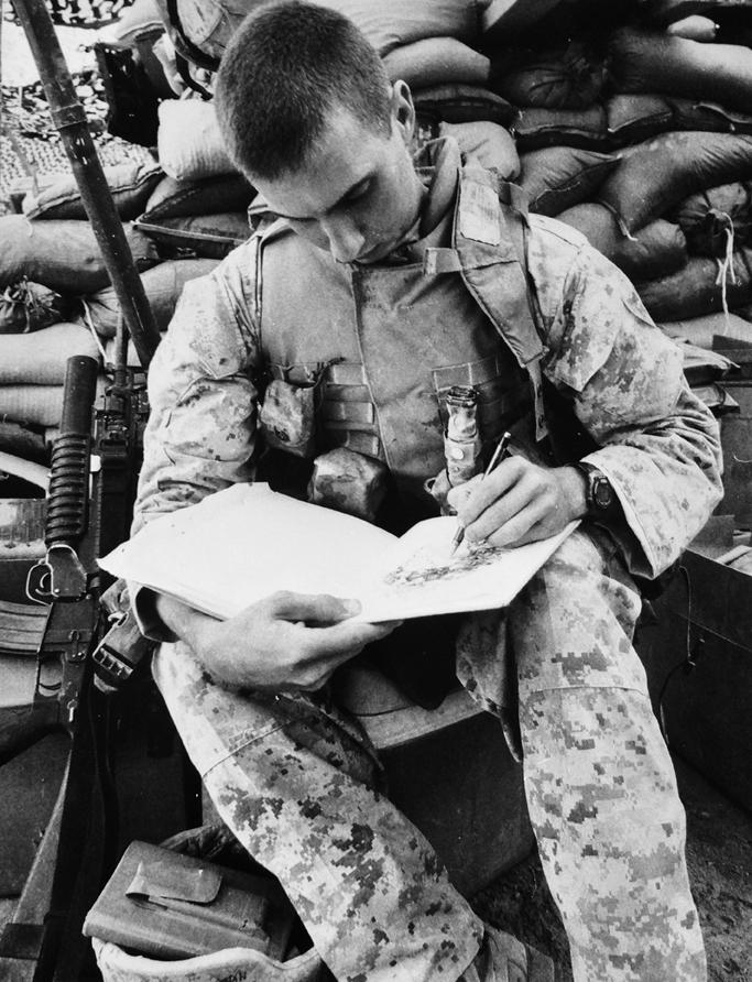 Sgt. Kirk in Iraq.
