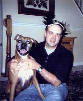 Lamana and his dog, Neiko.