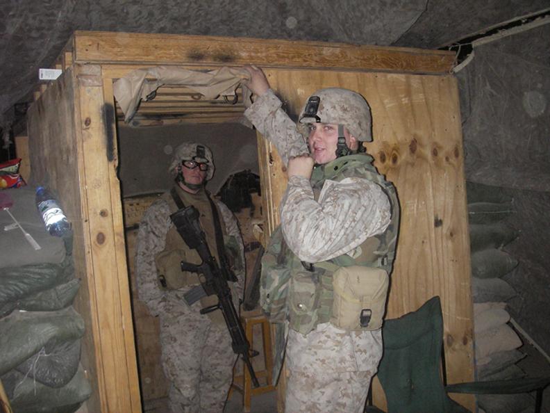 Lance Cpl. McCurdy in Iraq.