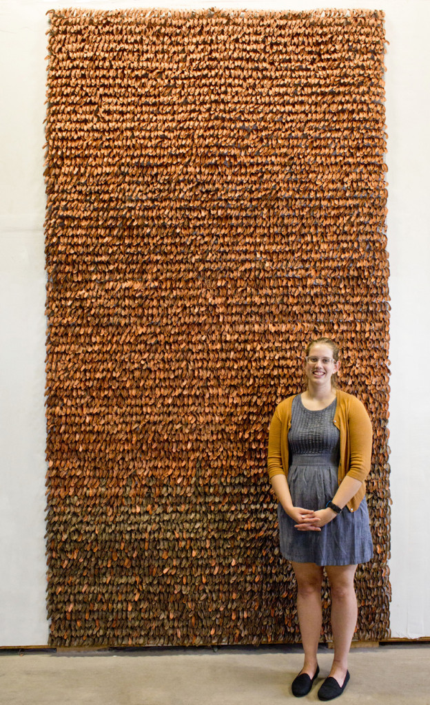 "Brittany Sievers' ""10,656 Palms"" ceramic sculpture"