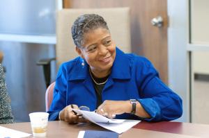 (Photo by Don Kadair) RDA interim executive director Gwen Hamilton
