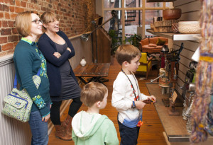 (AP Photo) Customers browse at Bricolage Art Collective in Paducah, Kentucky.