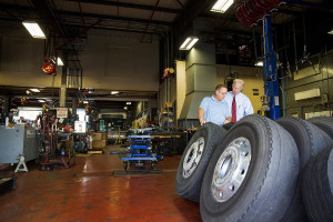 (Photo by Collin Richie) CATS CEO Bob Mirabito and James Godwin, director of maintenance