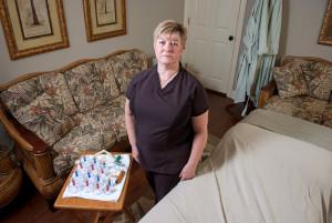 (Photo by Don Kadair) Veteran massage therapist Kathie Lea