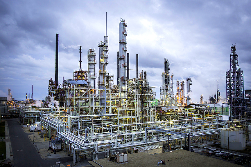 (Photo by Tim Mueller) The ExxonMobil Baton Rouge chemical plant is part of the petrochemical complex.