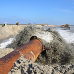 Sand moving work at the Caminada Headland project. Photo courtesy Restore or Retreat, Inc.