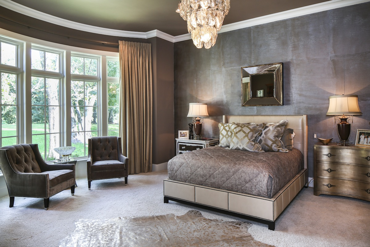One Wall In The Master Bedroom Features An Elephant Skin