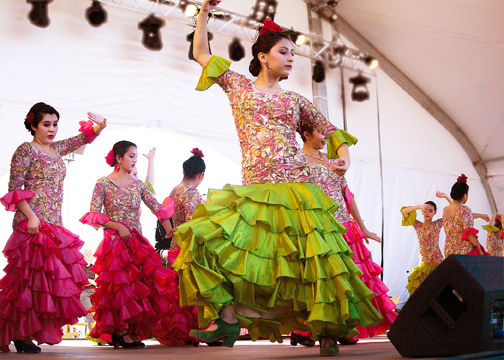 Flamenco dancers at the Albuquerque International Balloon Fiesta. Photo by Theresa Mullins Low.