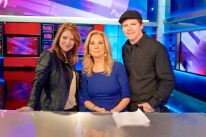 Director Lisa Arnold and Jarred with Kathie Lee Gifford at Fox Studios in New York for Caged No More.