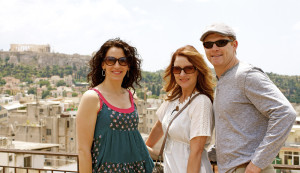 Caged author Molly Venzke, Lisa Arnold and Jarred traveled to Greece for a portion of the shooting of the film adaptation of Venzke's novel.