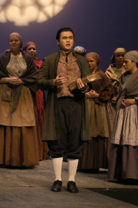 Suzanne Chambliss designed the costumes for the LSU Opera's production of Dialogues des Carmelites, directed by Dugg McDonough.