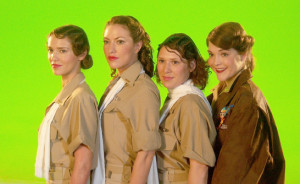 Suzanne Chambliss designed the costumes for the SyFy Channel movie Warbirds, combining World War II historical realism with fantasy action elements.