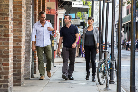 Nicotera scouted on-screen ensembles for actors including Scott Bakula, Lucas Black and Zoe McLellan in her work as a costume shopper for NCIS: New Orleans. Photo by Skip Bolen/CBS ©2014 CBS Broadcasting, Inc.
