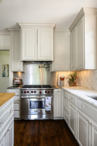 The kitchen had been remodeled before the Marantos moved in and now features updated amenities with classic details.